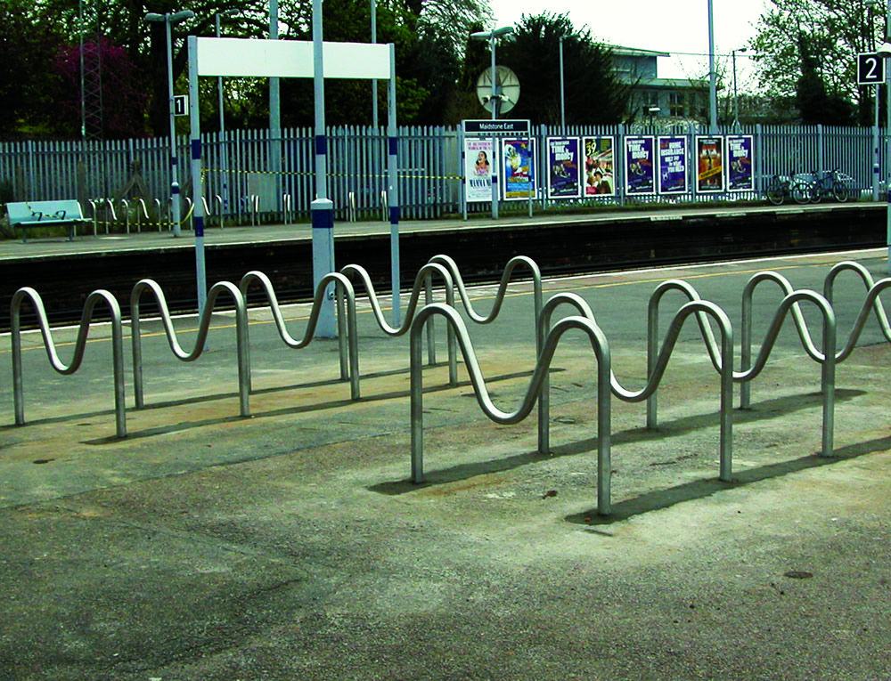 stainless cycle rack