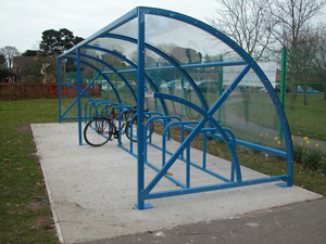 Bike sheds, cycle racks